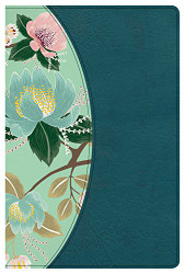 CSB Study Bible For Women Teal Flowers LeatherTouch Indexed