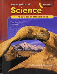 California Science Focus On Earth Sciences Grade 6