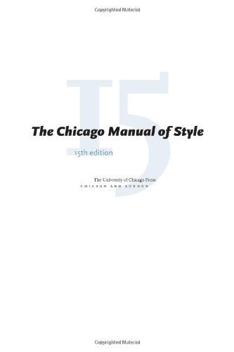 Chicago Manual Of Style