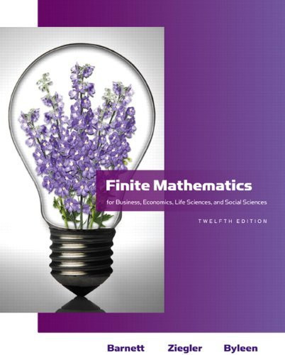 Finite Mathematics For Business Economics Life Sciences And Social Sciences