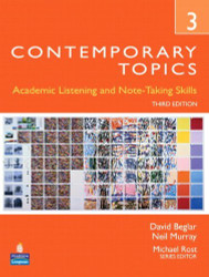 Contemporary Topics 3 Academic Listening And Note-Taking Skills