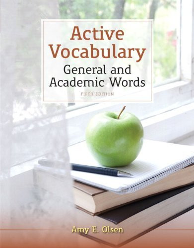 Active Vocabulary General And Academic Words By Amy E Olsen