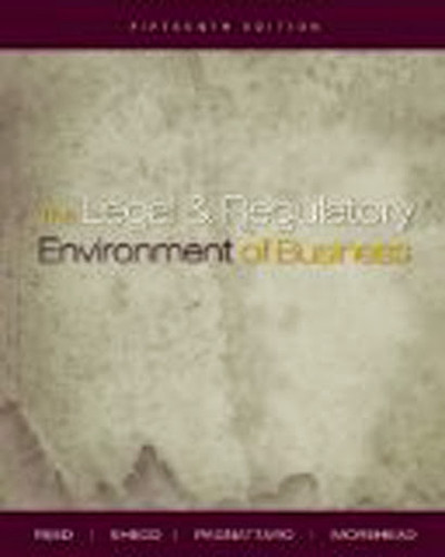 Legal And Regulatory Environment Of Business