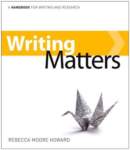 Writing Matters