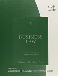 Study Guide For Business Law by Kenneth W Clarkson