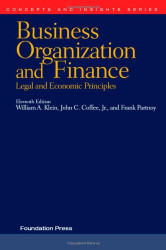 Business Organization And Finance Legal And Economic Principles 11Th