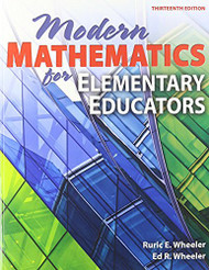 Modern Mathematics For Elementary Educators by Wheeler
