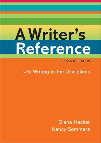 Writer's Reference With Writing In The Disciplines