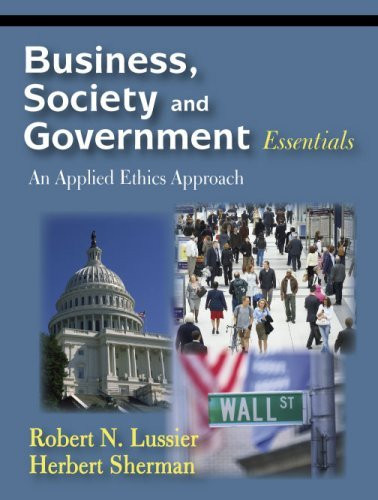 Business Society And Government Essentials