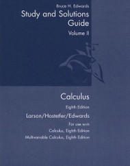 Calculus Study And Solutions Guide Volume 2