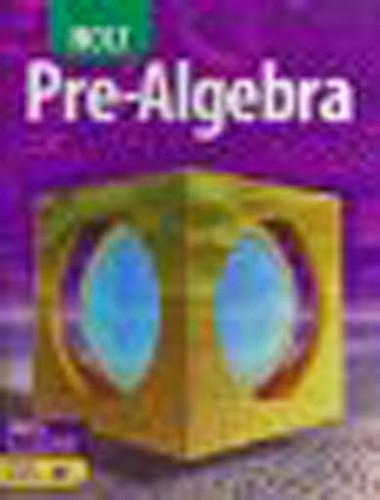 Holt Pre-Algebra