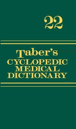 Taber's Cyclopedic Medical Dictionary Thumb-Indexed Version