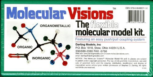 Molecular Visions Organic Inorganic Organometallic Molecular Model Kit #1 By Darling Models To Accompany Organic Chemistry