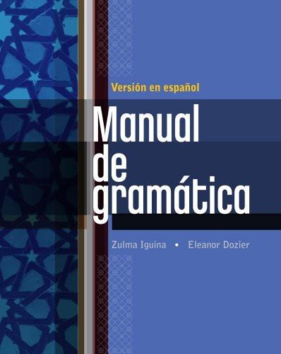 Manual De Gramatica En Espanol
