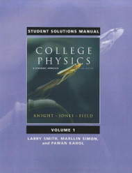Student Solutions Manual For College Physics Volume 1