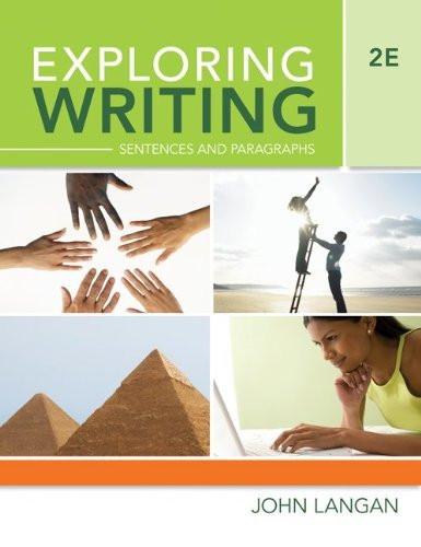 Exploring Writing Sentences And Paragraphs