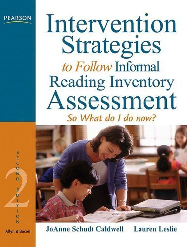 Intervention Strategies To Follow Informal Reading Inventory Assessment