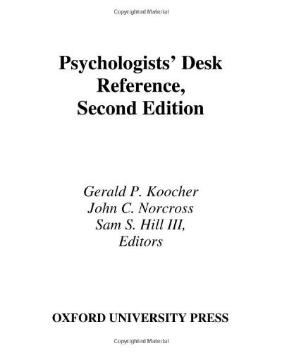 Psychologists' Desk Reference