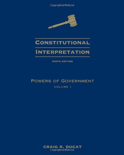 Constitutional Interpretation Volume 1