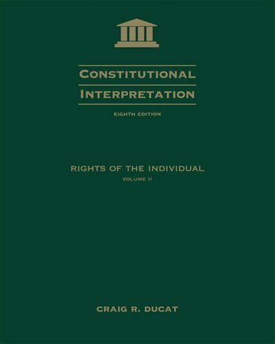 Constitutional Interpretation Volume 2