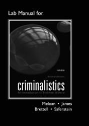 Lab Manual For Criminalistics