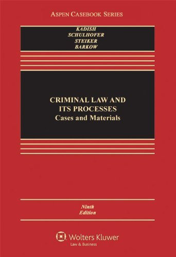 Criminal Law And Its Processes
