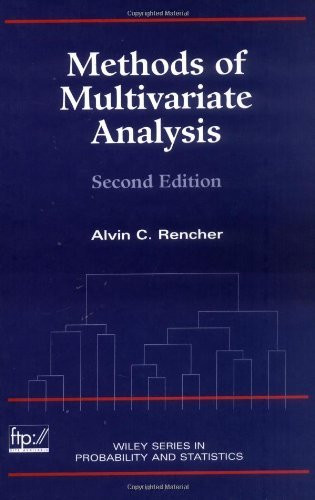 Methods Of Multivariate Analysis