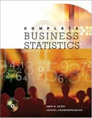 Complete Business Statistics  - Aczel