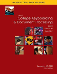 Gregg College Keyboarding and Document Processing Lessons 61-120 by Scot Ober