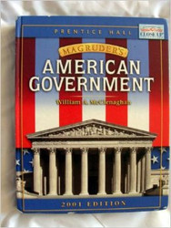 American Government by William McClenaghan & Prentice Hall