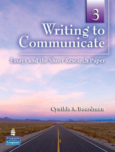 Writing To Communicate 3