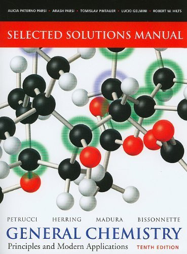 Selected Solutions Manual -- General Chemistry