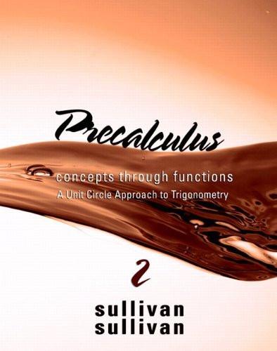 Precalculus Concepts Through Functions Unit Circle