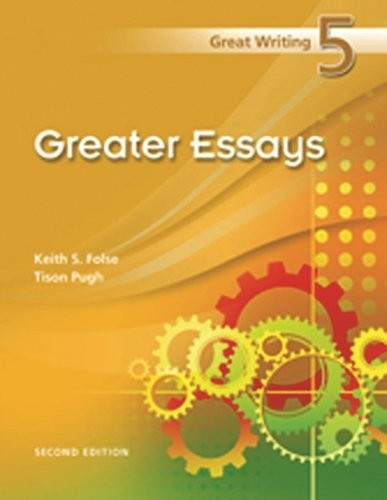 from great paragraphs to great essays folse Great writing 4: from great paragraphs to great essays / edition 4 dr keith folse is a professor of tesol at the university of central florida he is the author of 57 textbooks on a variety of subjects from grammar to vocabulary to composition.
