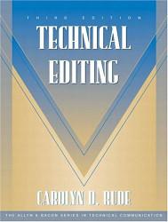 Technical Editing - Carolyn Rude