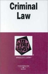 Criminal Law In A Nutshell