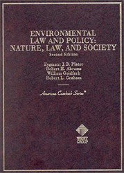 Environmental Law and Policy by Zygmunt Plater