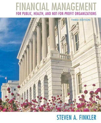 Financial Management For Public Health And Not-For-Profit Organizations
