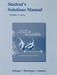 Student Solutions Manual For Elementary And Intermediate Algebra