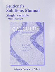 Student Solutions Manual Single Variable For Calculus