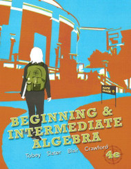 Beginning and Intermediate Algebra  -  by Tobey
