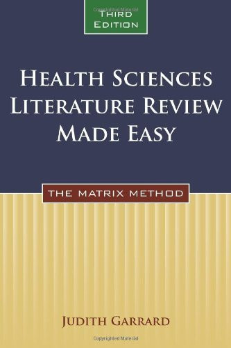 Health Sciences Literature Review Made Easy