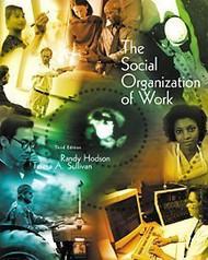 Social Organization Of Work - Randy Hodson