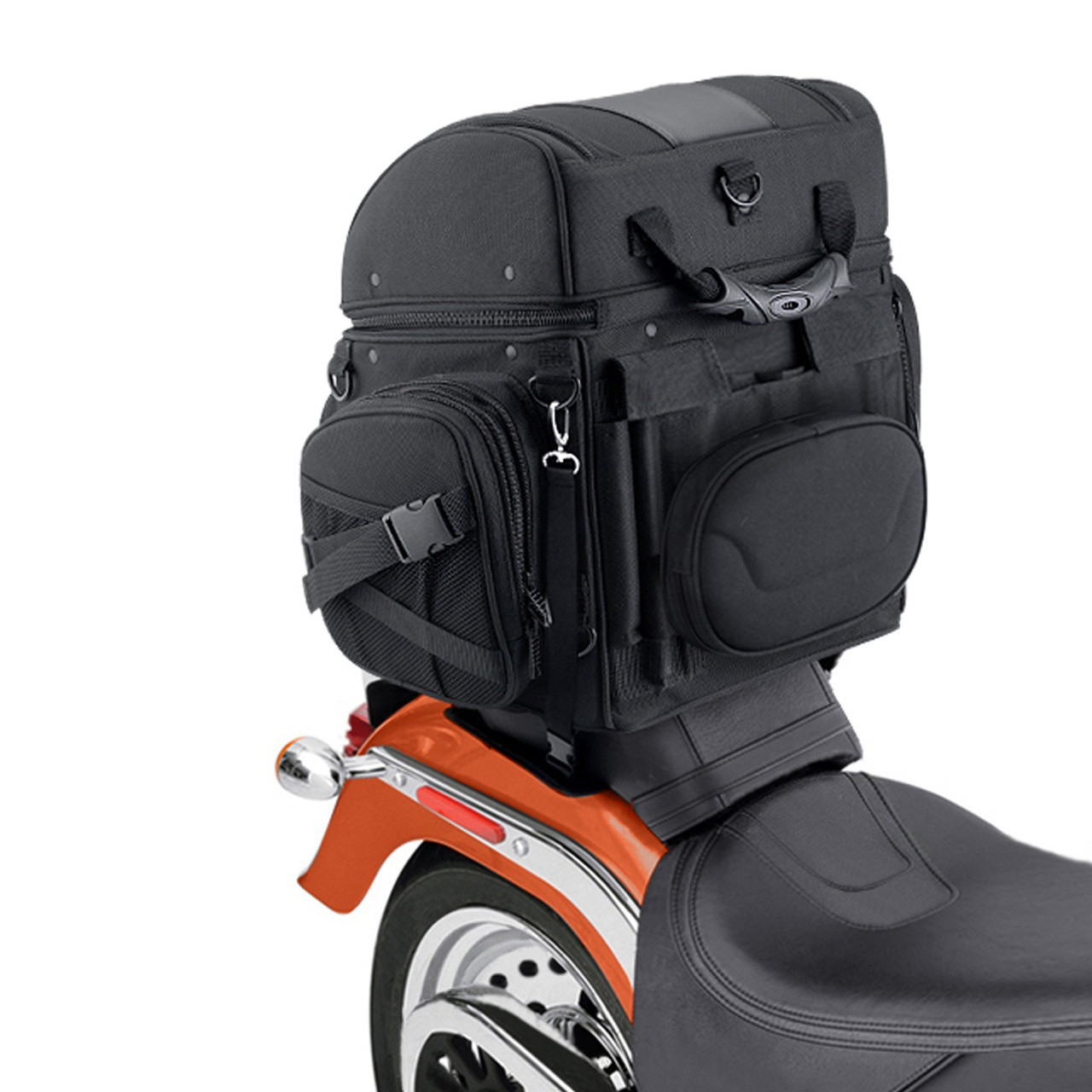 Medium Motorcycle Back Seat Luggage (1,800 cubic inches)  Back View