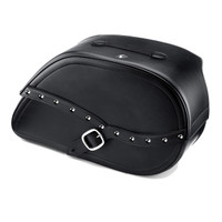 Viking Armor Shock Cutout Studded Motorcycle Saddlebags