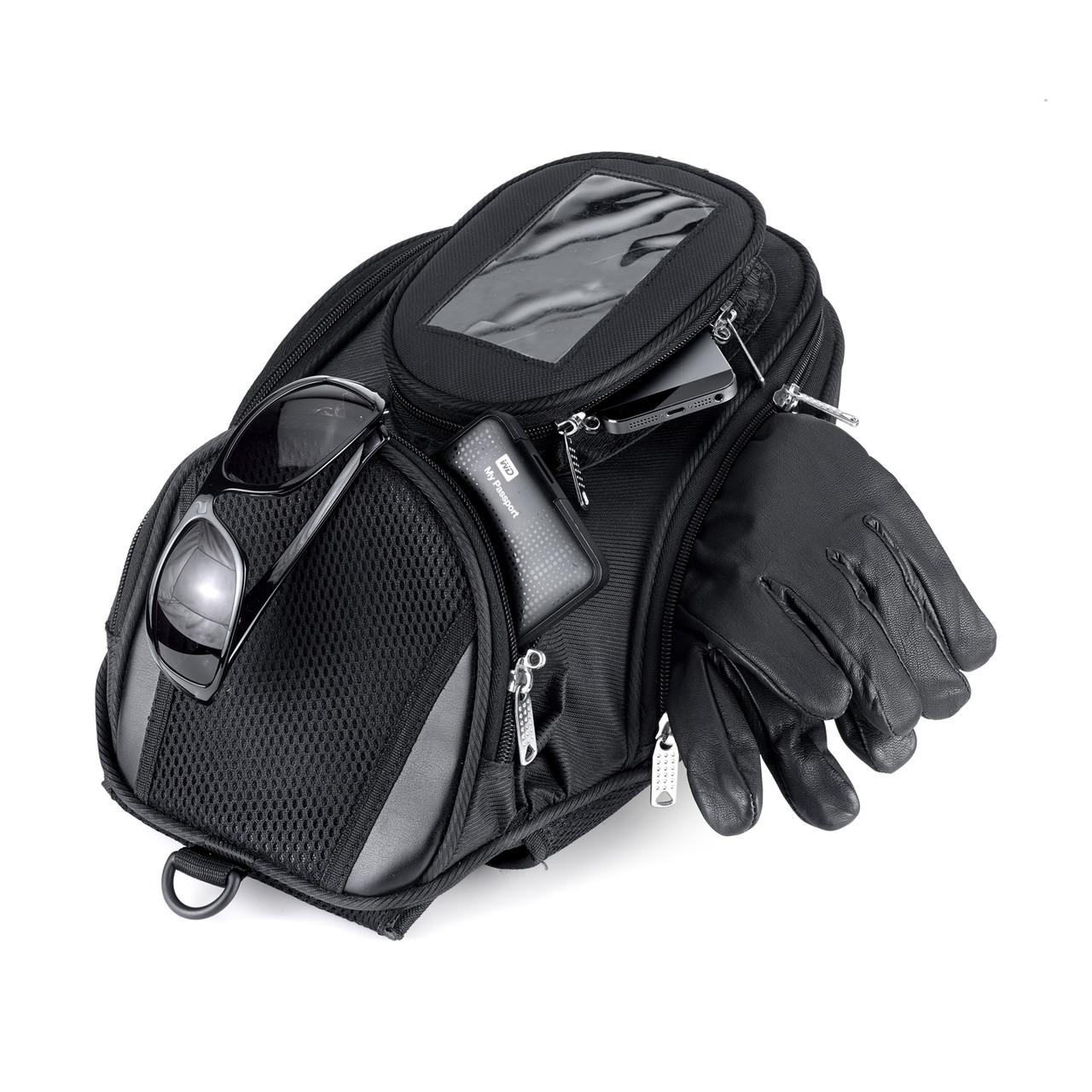 Viking Survival Series Motorcycle Tank Bag carrying Items