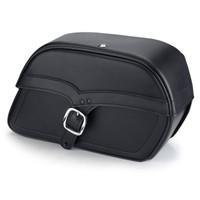Vikingbags Shock Cutout Single Strap Large Slanted Saddlebags Main Image