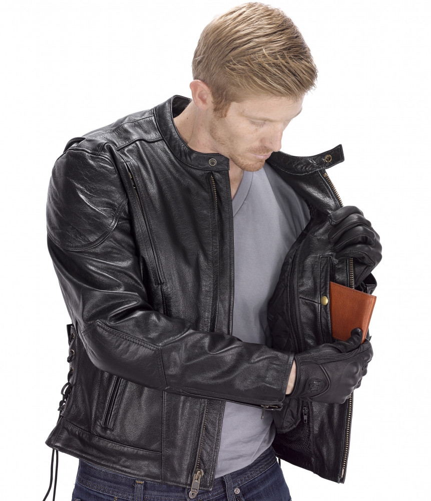 VikingCycle Warrior Motorcycle Jacket for Men