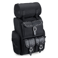 Viking Extra Large Studded Motorcycle Tail Bag 4,400 Cubic Inches