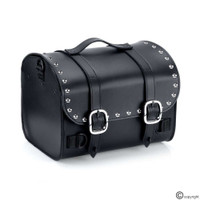 Nomad USA Leather Black Studded Motorcycle Trunk